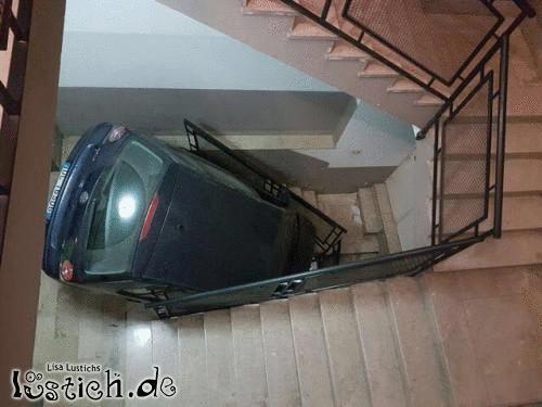 Langsam im Treppenhaus