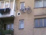 Fahrrad am Haus