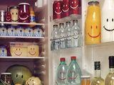 Grinsen im Kühlschrank