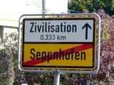 Noch 0,333 Meter zur Zivilisation