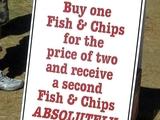 Zweimal Fish and Chips zum preis von zwei