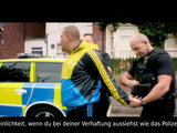 Verhaftetes Polizeiauto