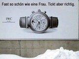 Uhrenwerbung