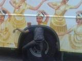 Busreise in Indien