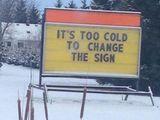 Einfach zu kalt!