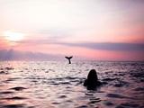 Extrem lange Meerjungfrau