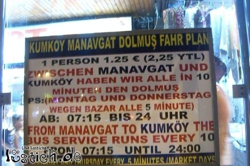 Türkisches Dolmus Schild