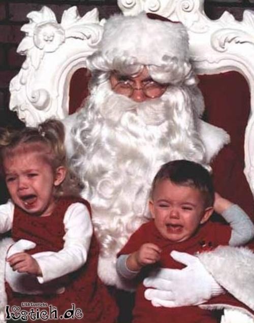 Große Angst vor dem Weihnachtsmann