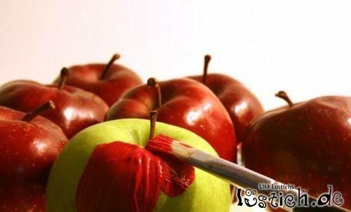 Äpfel in Rot