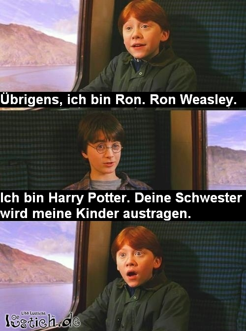 Ronald Weasley lernt Harry Potter kennen