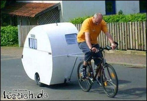 Wohnwagen-Fahrrad