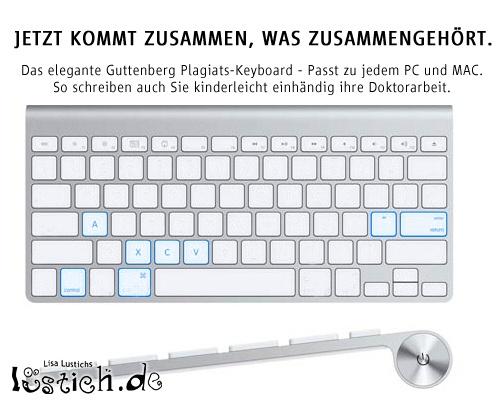 Apple Tastatur nach Guttenberg Style