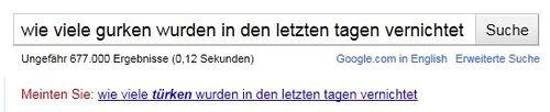 Google Vorschlag