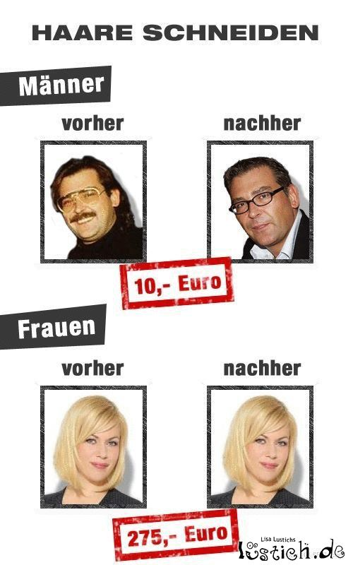 Friseur für Männer und Frauen Bild - lustich.de