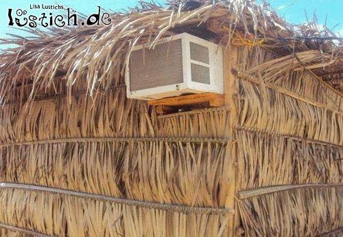 Kühle Strohhütte