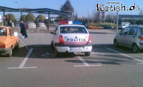 Polizei braucht viel Platz