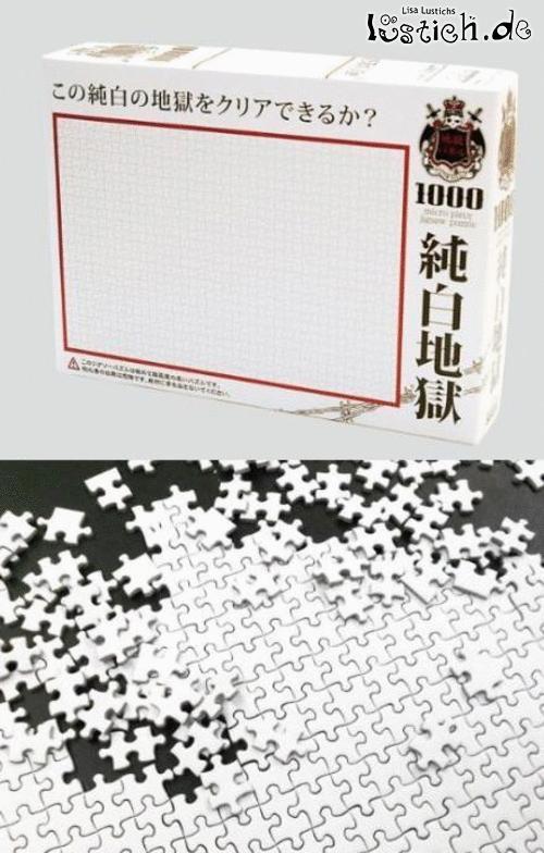 Das weiße Puzzel