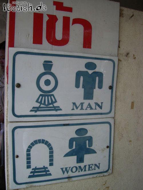 Frauen und Männer in Symbolen