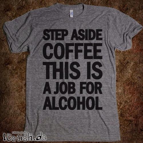 Kaffee und Alkohol