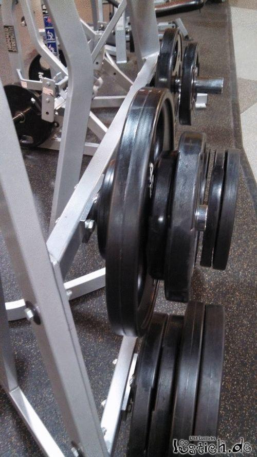 Gewichte anbringen