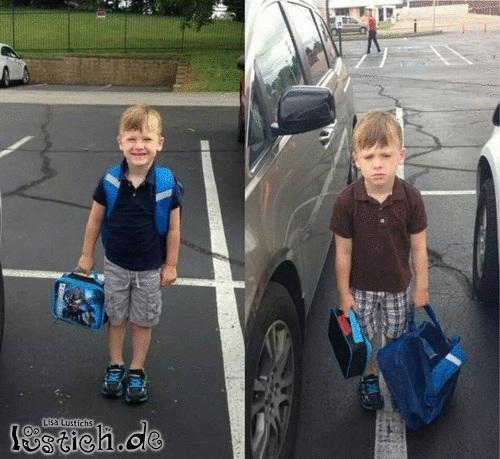 Erster Schultag vs. zweiter Schultag