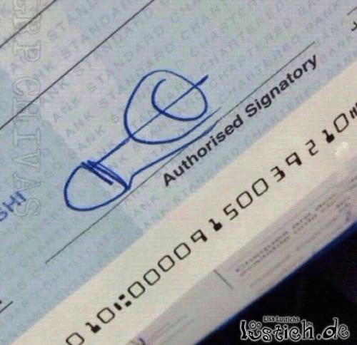 Witzige Unterschrift