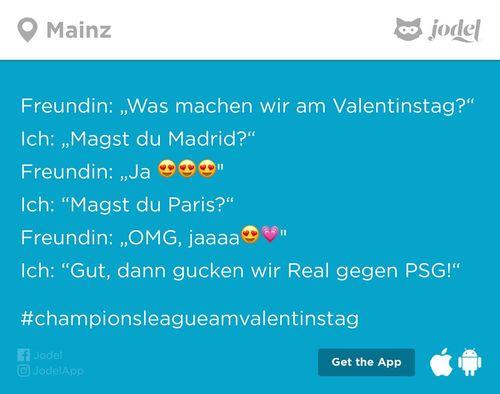 Champions League am Valentinstag