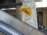 Rolltreppenwarnung