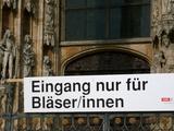 Eingang für Bläser
