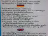 Spanische Verhaltensregeln auf Deutsch