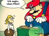 Super Mario im Restaurant