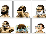 Eine Rasur