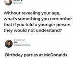 Geburtstag bei McDonalds