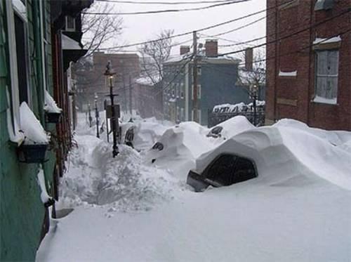 Schneechaos in Boston