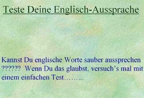 Englische Aussprache