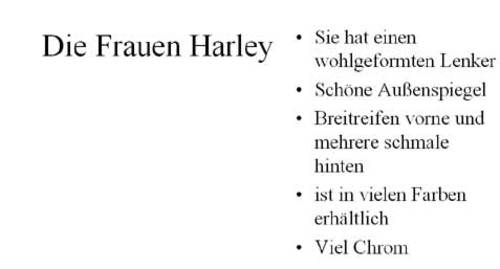 Harley für Frauen
