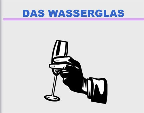 Das Wasserglas